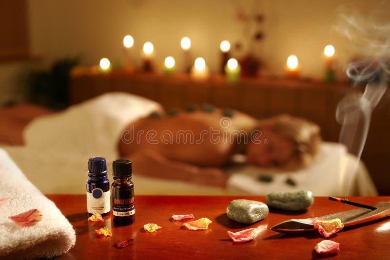 Massage de STATION THERMALE dans l'hôtel photos libres de droits