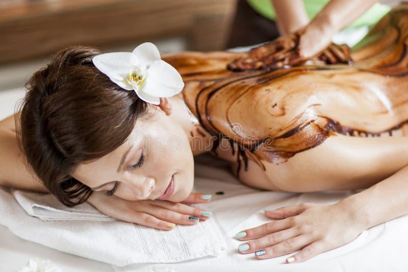 Massage der heißen Schokolade lizenzfreie stockfotografie
