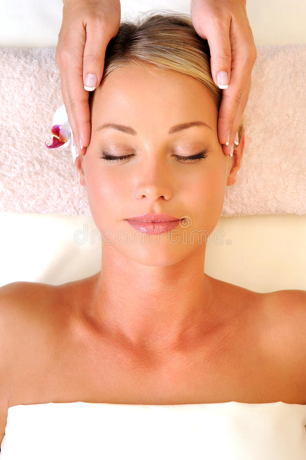 Massage on the face royalty free stock photos