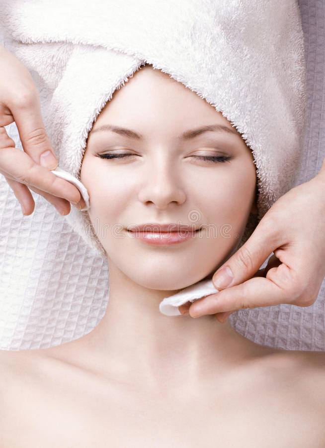Massage facial photo libre de droits