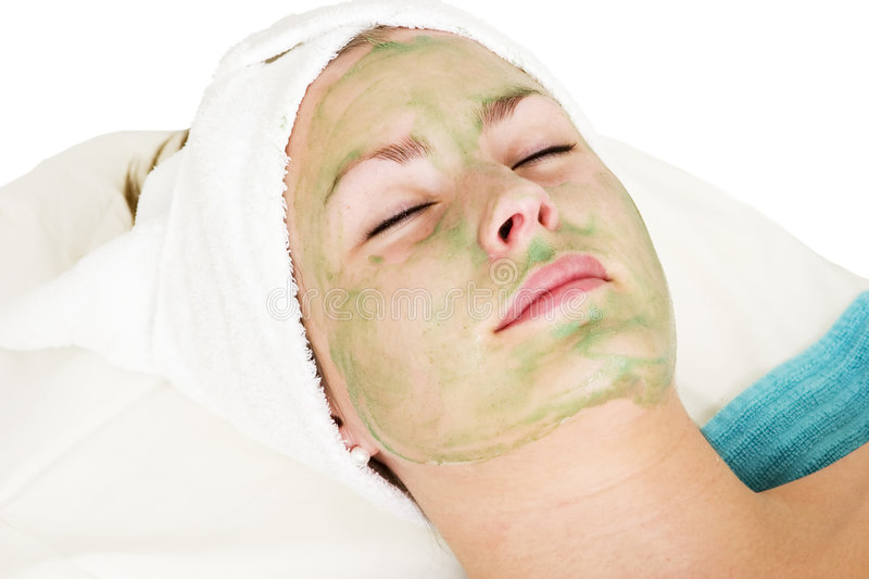 Massage facial de Vera d'aloès image stock