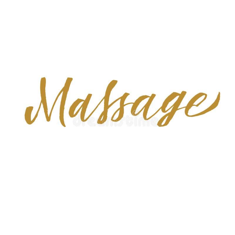 Massage hand lettering vector illustration