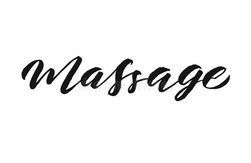Massage hand lettering stock illustration