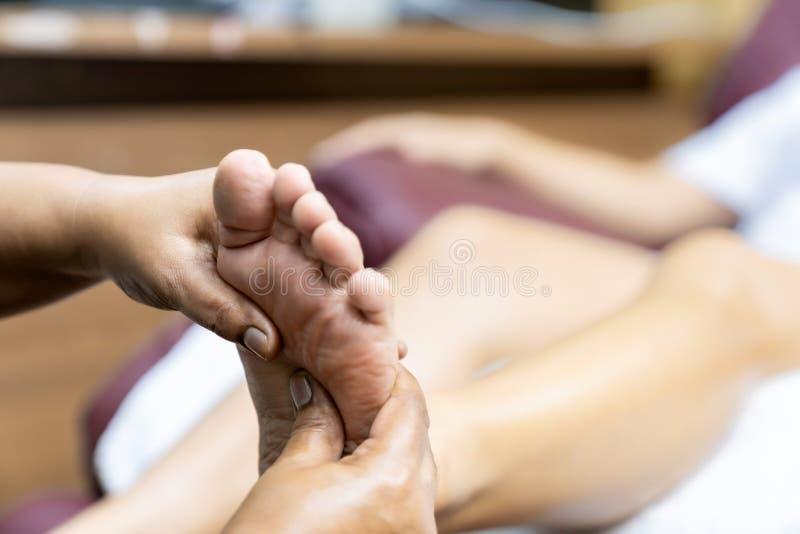 Massage at Home while lockdown 免版税库存图片