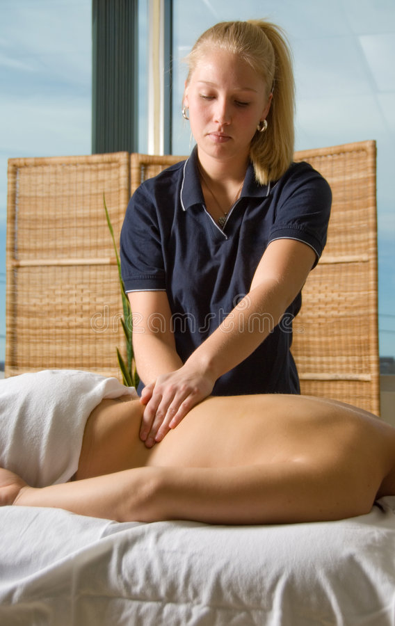 Massage-Klinik stockbild