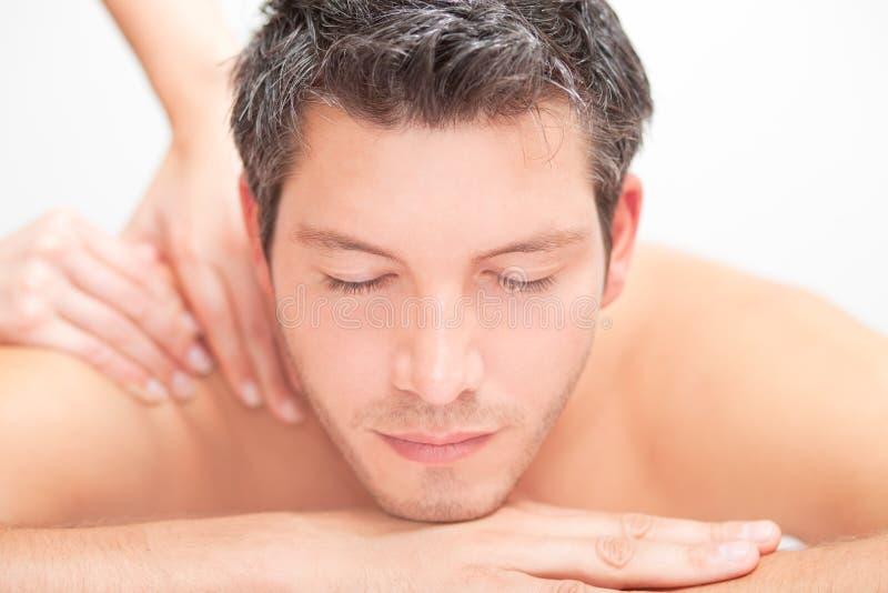 Massage men stock photos
