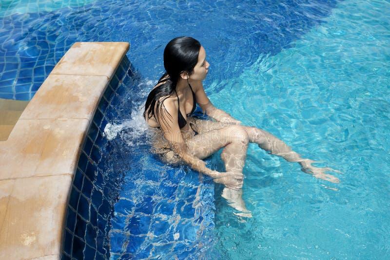 Massage mit Jacuzzi stockbilder