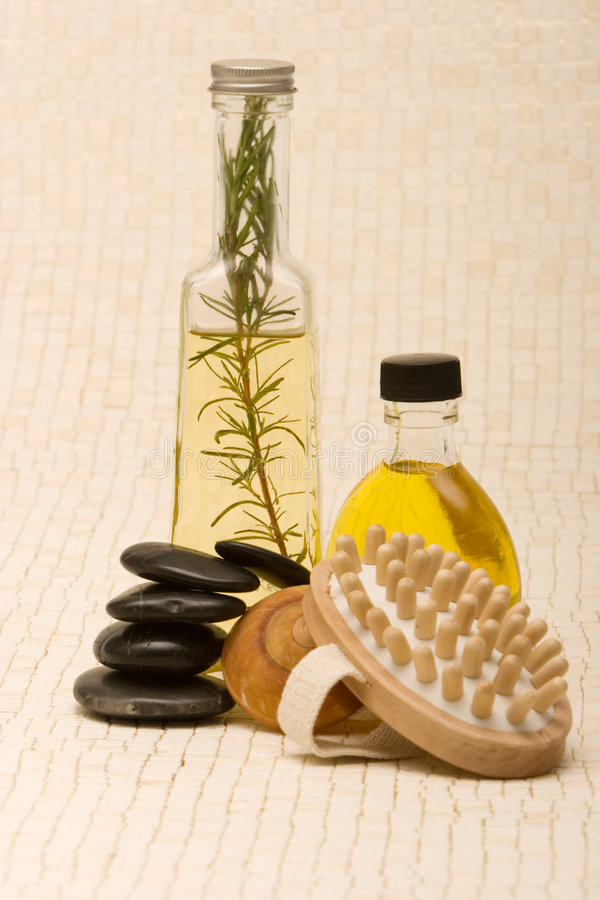 Massage objects stock image