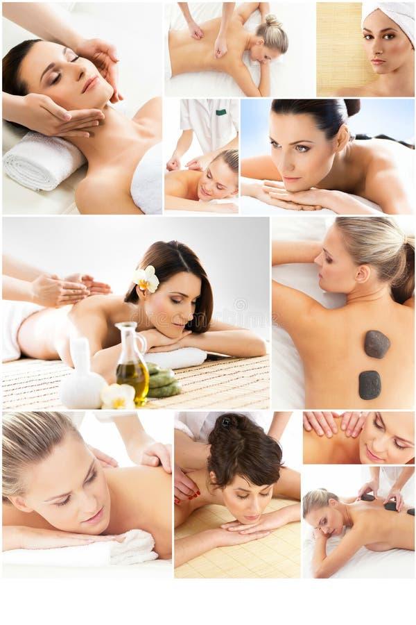 Massage och läkasamling royaltyfria foton