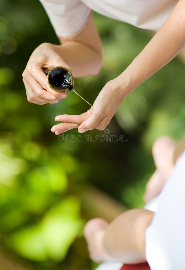 Massage Oil stock photo