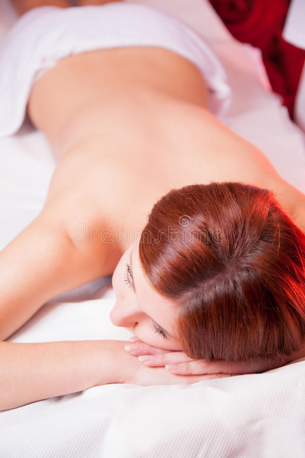 Massage with oil royalty free stock photos