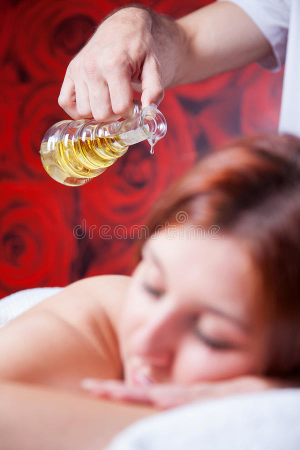 Massage with oil royalty free stock images