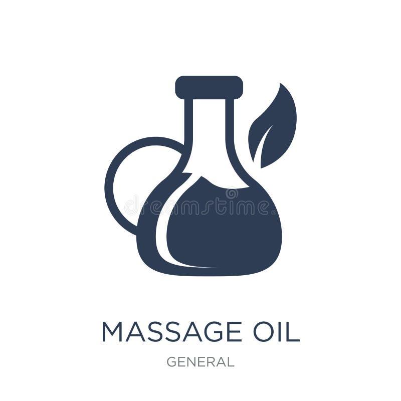 massage oil icon. Trendy flat vector massage oil icon on white b royalty free illustration