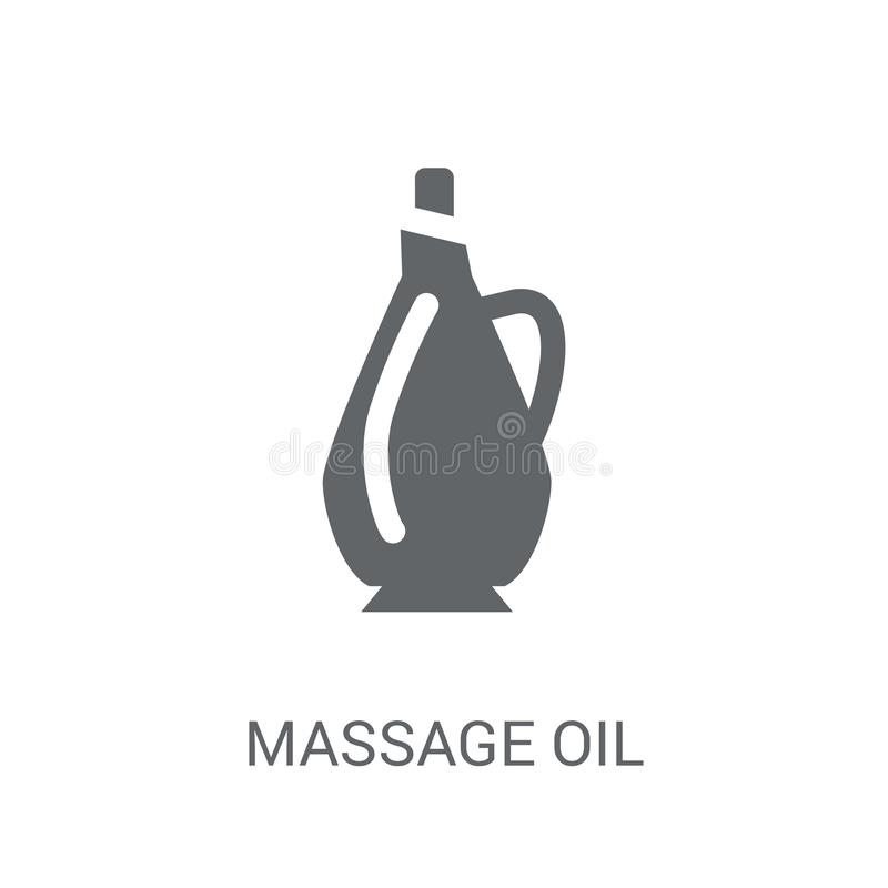 massage oil icon. Trendy massage oil logo concept on white background from General collection royalty free illustration