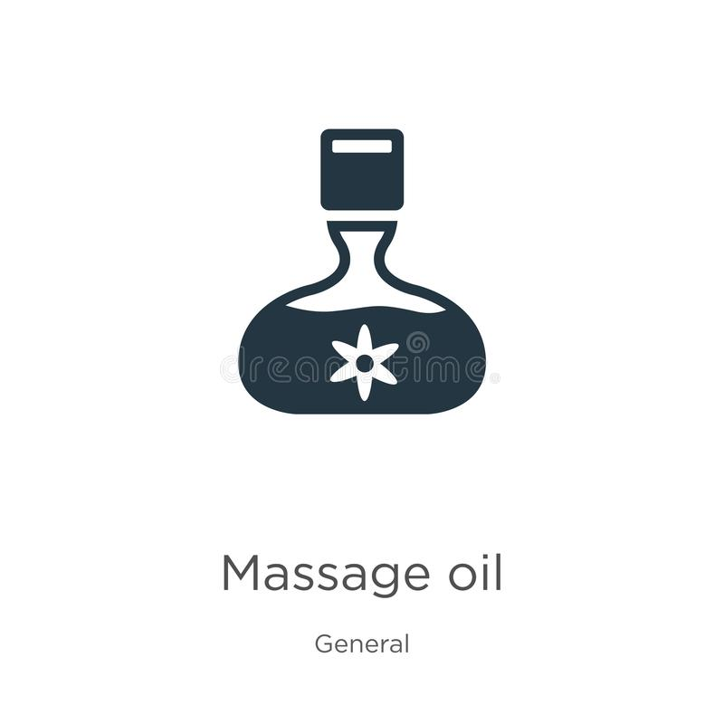 Massage oil icon vector. Trendy flat massage oil icon from general collection isolated on white background. Vector illustration stock illustration