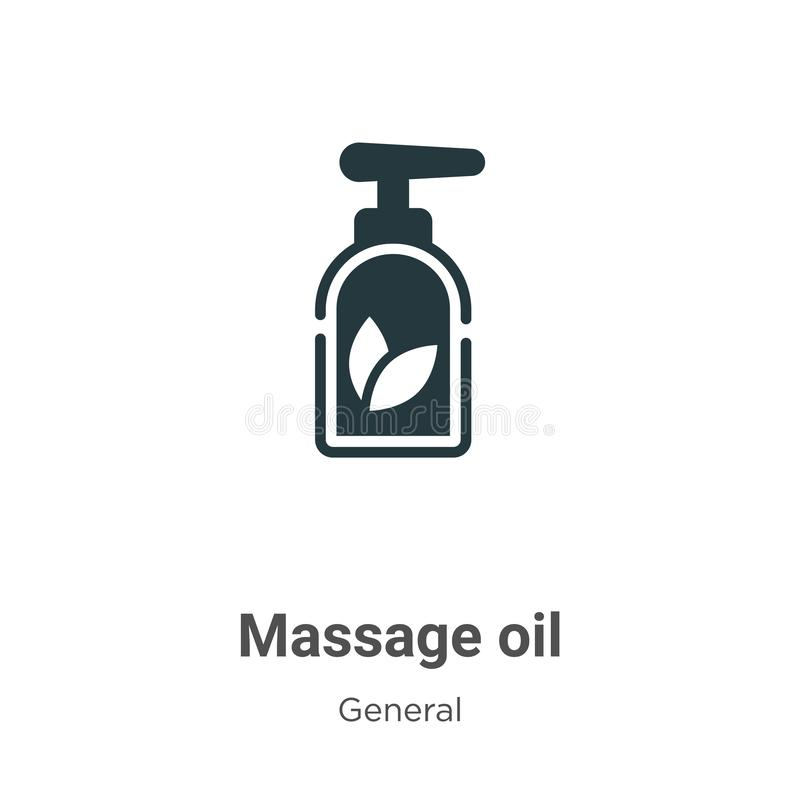 Massage oil vector icon on white background. Flat vector massage oil icon symbol sign from modern general collection for mobile royalty free illustration