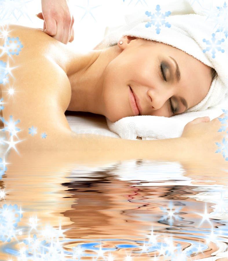 Download Massage pleasure in water stock photo. Image of gentle - 6566288