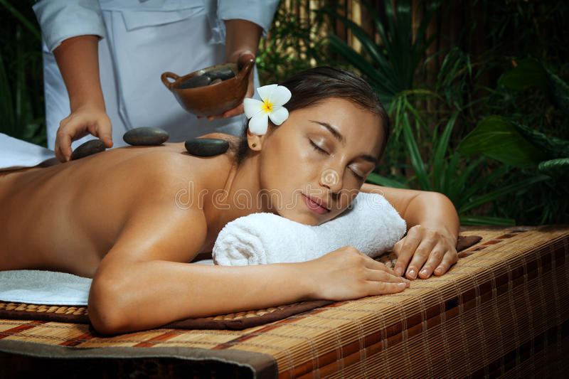 On massage royalty free stock images
