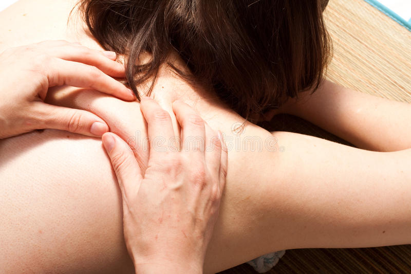 Massage procedure stock photos