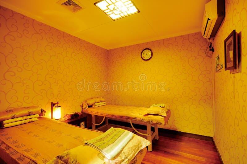 Massage room stock image
