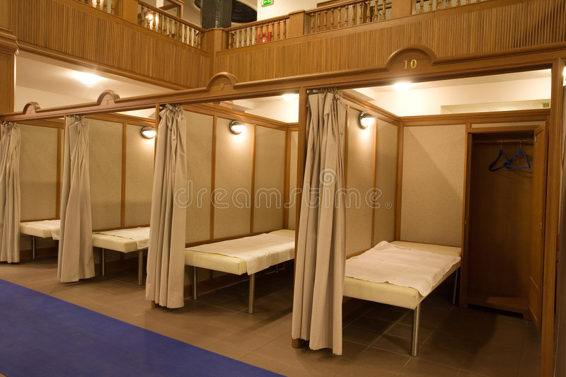 Massage rooms stock photography