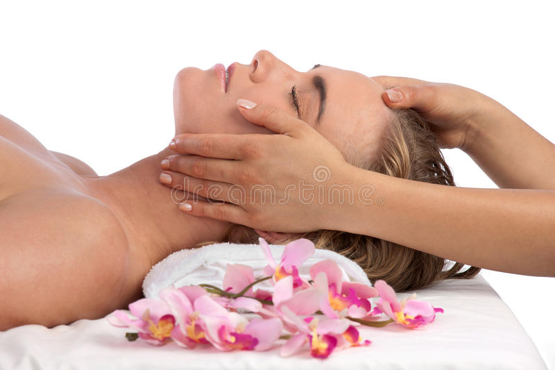 Massage at the Spa stock image