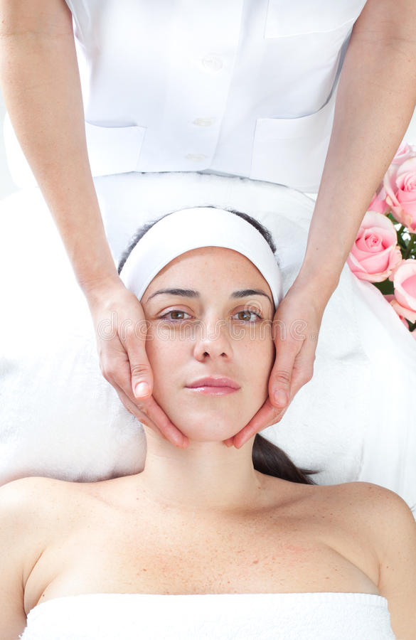 Massage spa. Facial treatment. royalty free stock photography