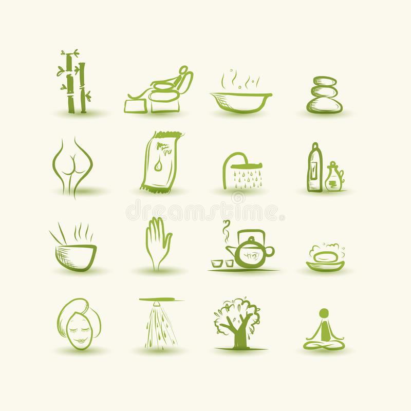 Download Massage And Spa, Set Of Icons For Your Design Stock Vector - Image: 33301453