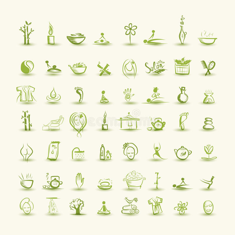 Download Massage And Spa, Set Of Icons For Your Design Stock Vector - Image: 33301554