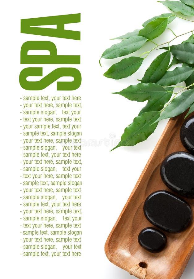 Massage-Steine stockbilder