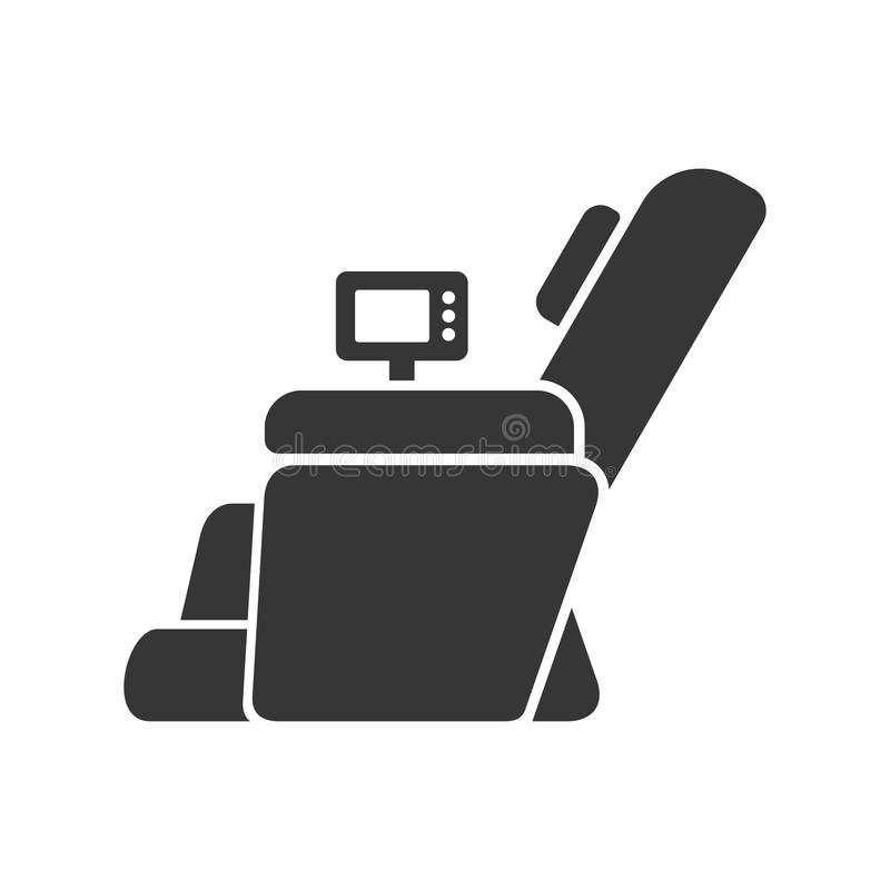 Massage-Stuhl-Ikone lizenzfreie abbildung