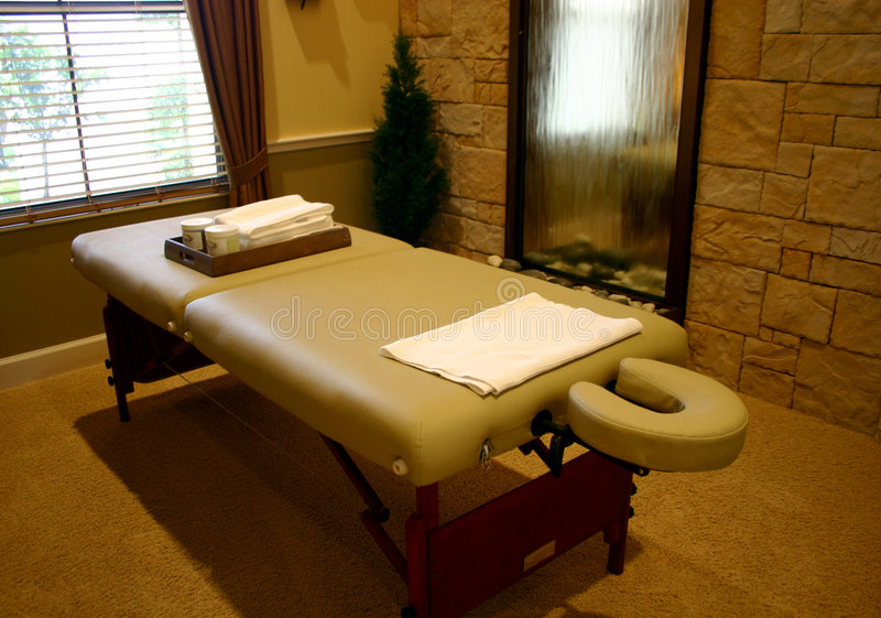 Download Massage Table stock image. Image of fountain, personal - 2622381