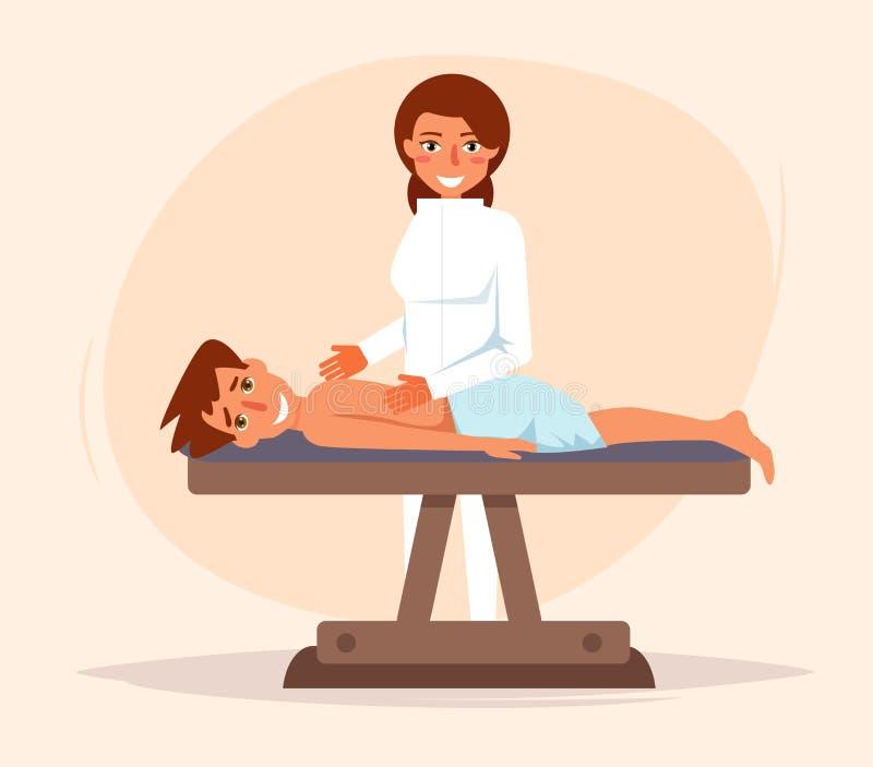 Massage thérapeutique chiroprakteur illustration de vecteur