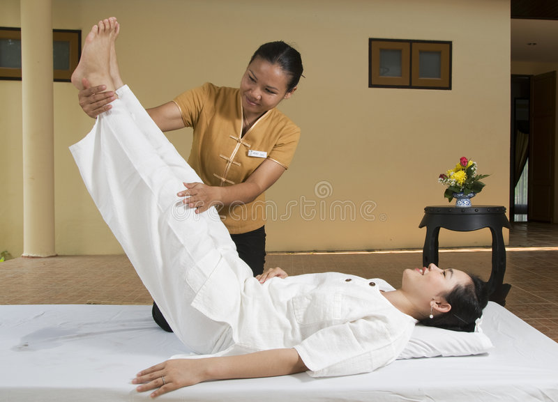 Massage thaï 1 de station thermale photo libre de droits