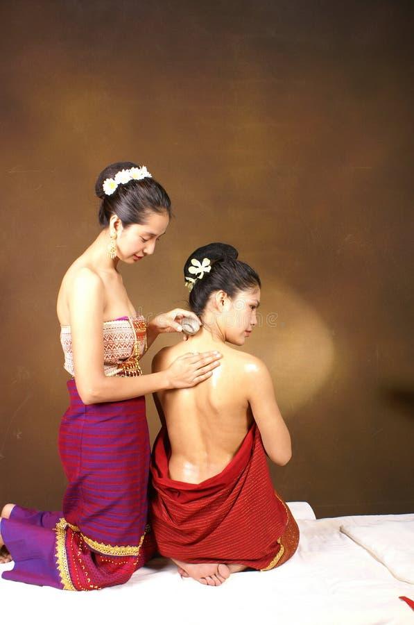 Massage thaï sain de pétrole photographie stock