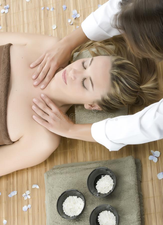 Massage therapy royalty free stock images