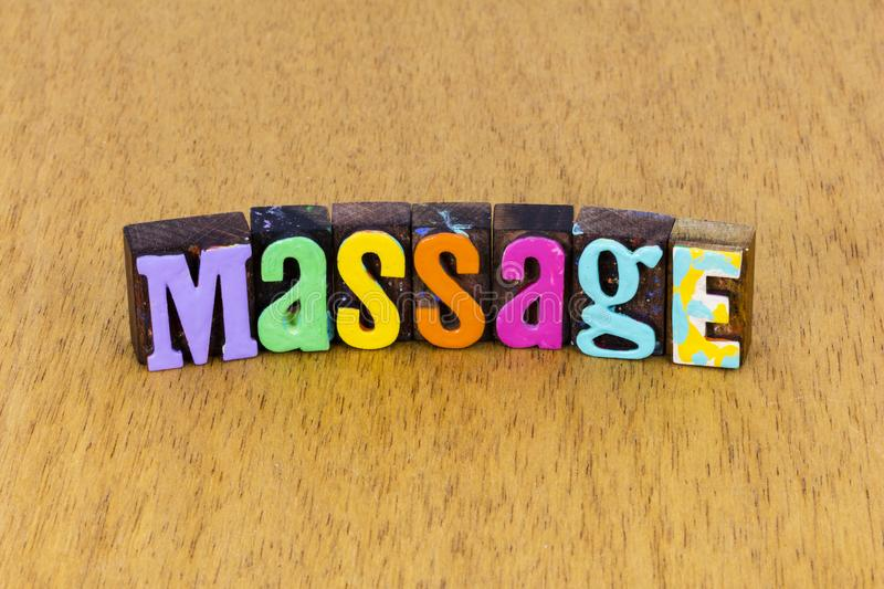 Massage therapy treatment spa health wellness letterpress relaxation. Massage therapy treatment spa health wellness healthcare lifestyle relaxation letterpress stock images