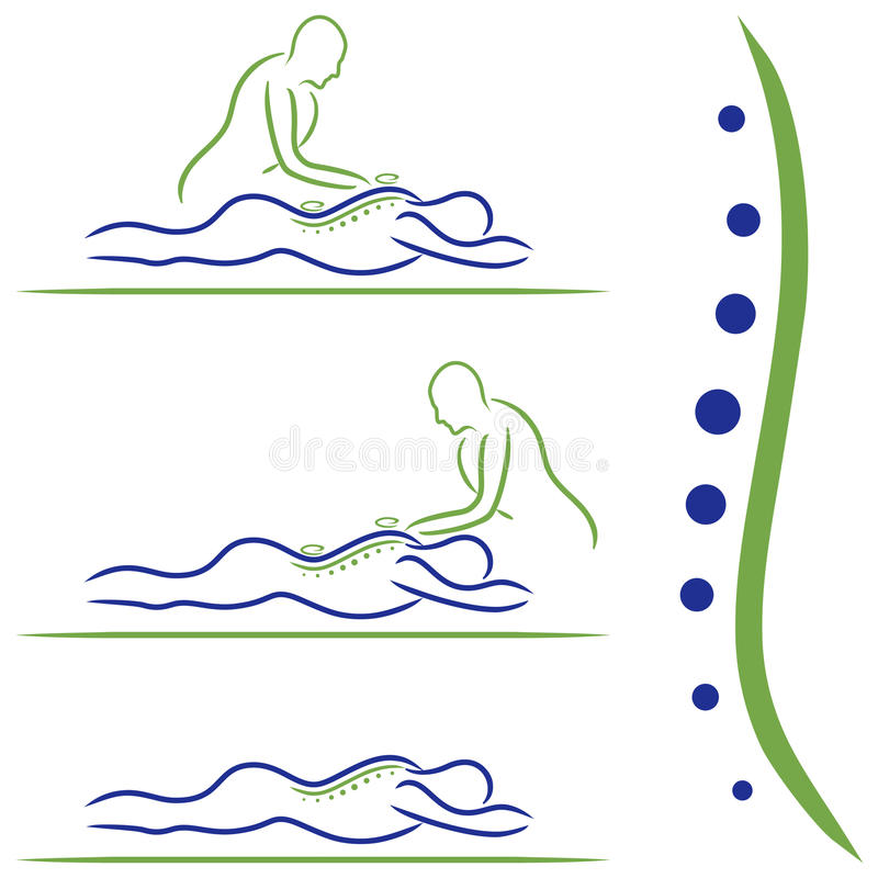 Massagebehandeling royalty-vrije stock fotografie