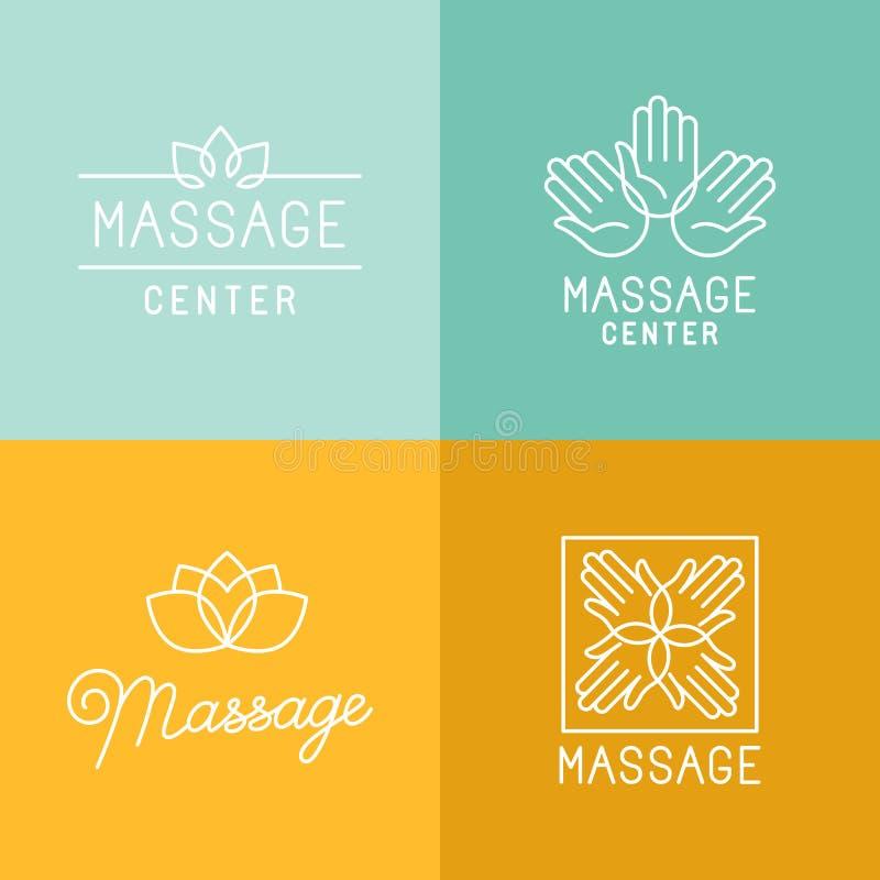 Massageemblemen vector illustratie