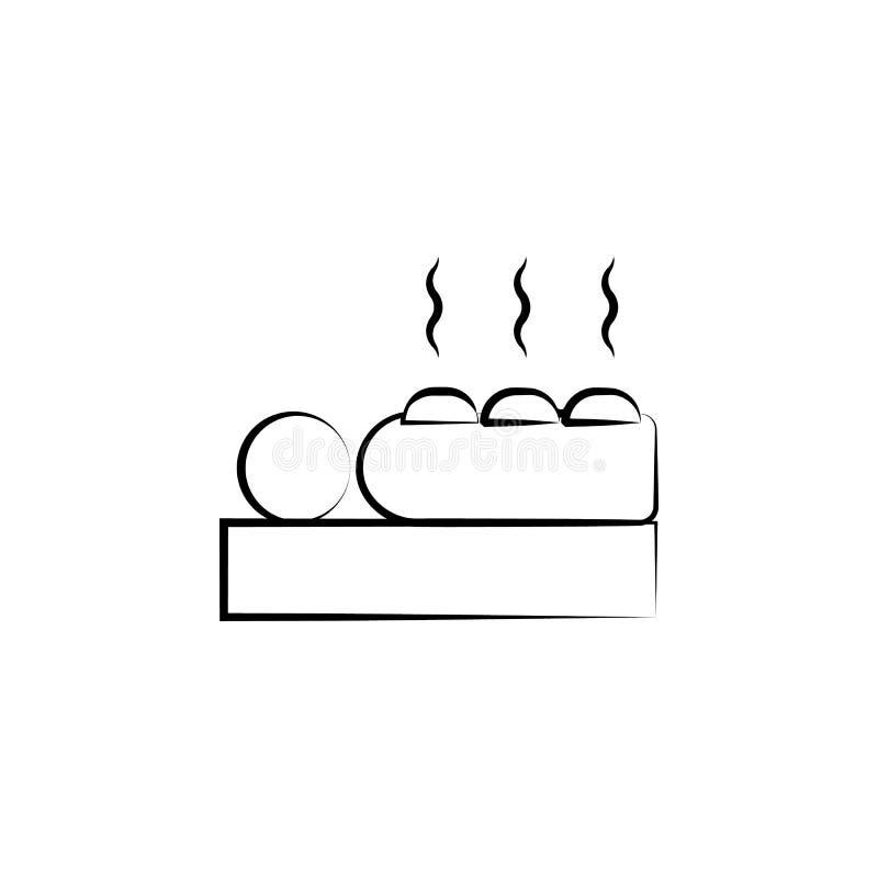 Massagem, ícone da medicina chinesa Elemento do ícone da medicina alternativa para apps móveis do conceito e da Web Linha fina ma ilustração stock