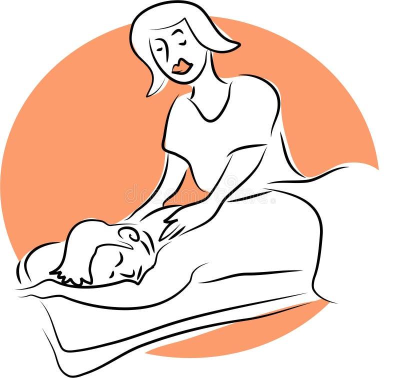 Massagem ilustração royalty free
