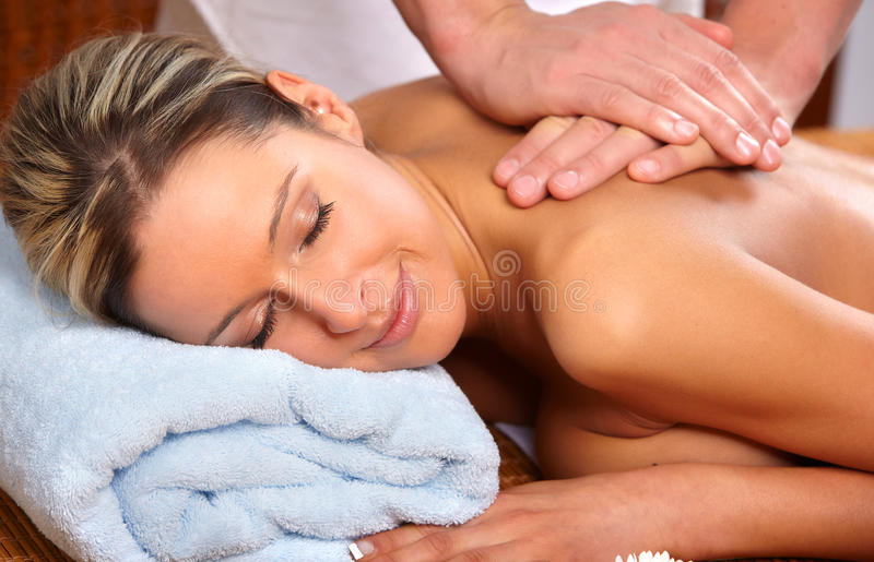 Massagem foto de stock royalty free