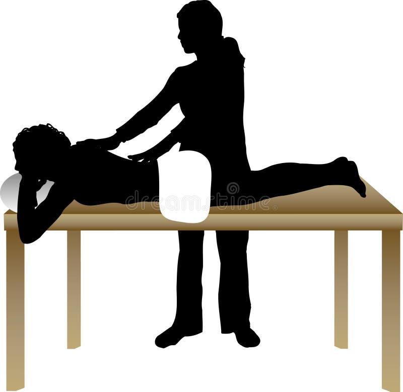 Massagem ilustração stock