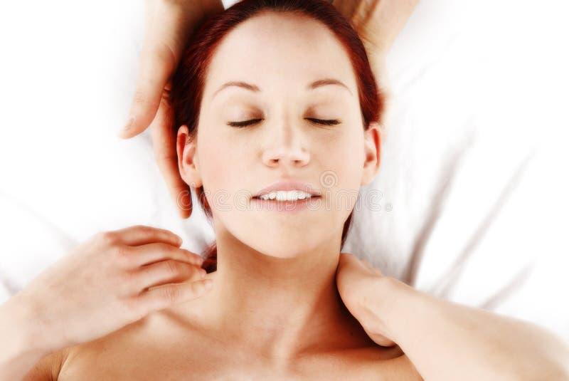 Massagem da garganta imagens de stock royalty free