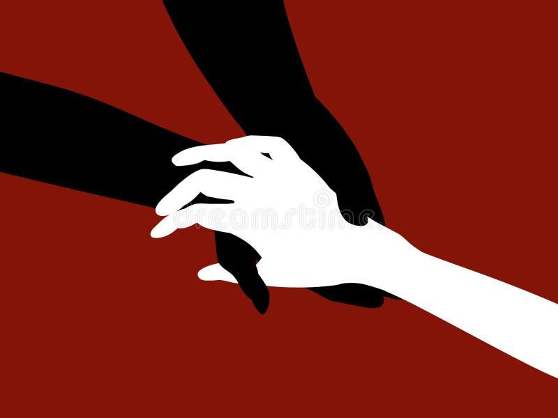 Massagem da mão ilustração royalty free