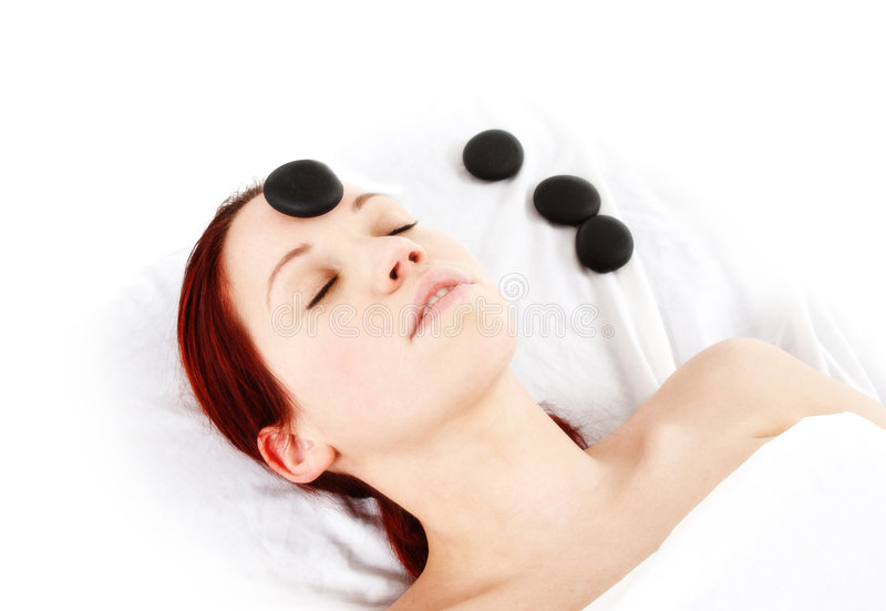 Massagem de Hotstone imagens de stock