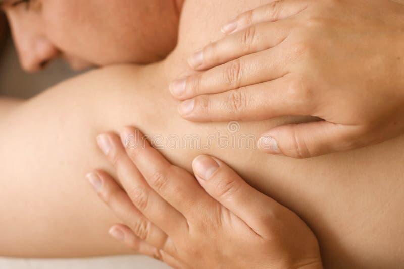 Massagem do Acupressure imagens de stock