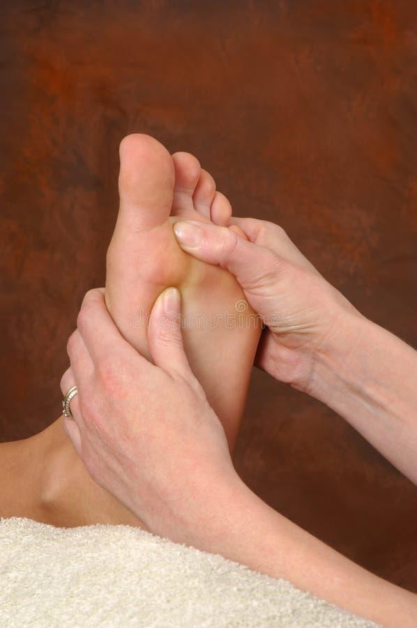Massagem do pé dos termas de Reflexology imagem de stock