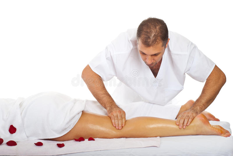Massagem dos pés foto de stock royalty free