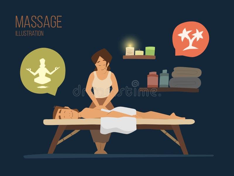 Massagem dos termas ilustração royalty free